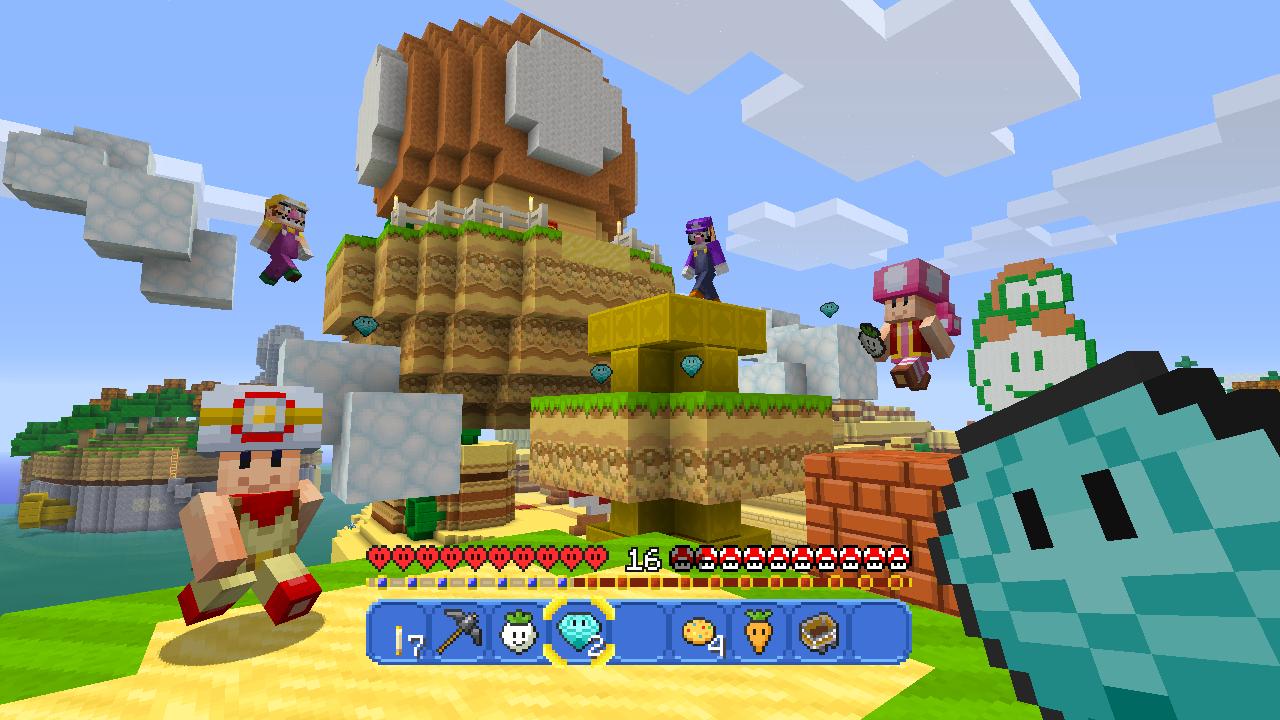 Super Minecraft Mario SpieleMaschine - Minecraft online spielen wii u
